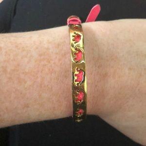 Stella and Dot Gold Plated Elephant Bracelet
